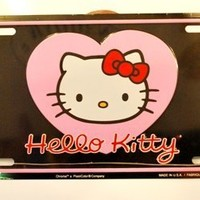Hello Kitty License Plate Aluminum Stamped