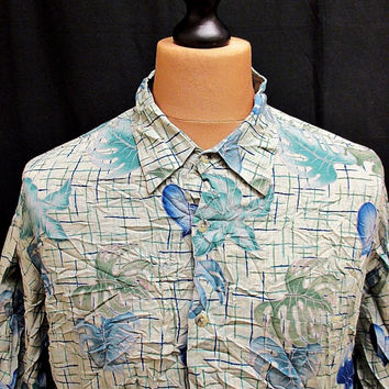 Vintage Croft And Barrow Floral Amazing Hawaiian Shirt XL