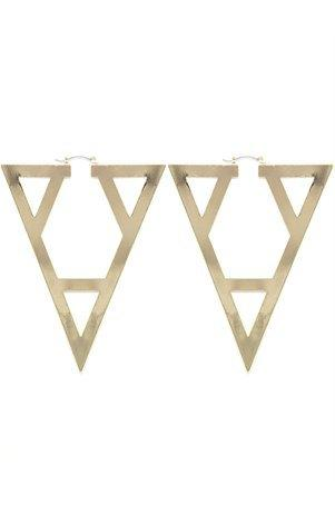 A'GACI Aztec Oversized Metal Earring - New Arrivals