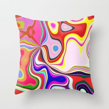 Rainbows End Throw Pillow by Colorful Art