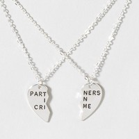 Partners In Crime BFF Necklace Set  | Claire's