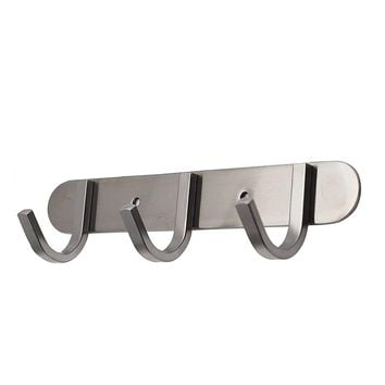 QT Premium Modern Wall Mounted Coat Rack with 3 Square Hooks