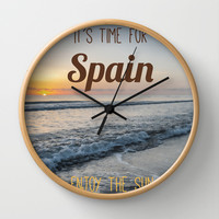 Time for spain Wall Clock by Architect´s Eye | Society6