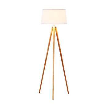Emma Tripod Floor Lamp - Classic Design for Contemporary or Traditional Living Rooms - Soft Ambient Lighting - Made with Natural Wood