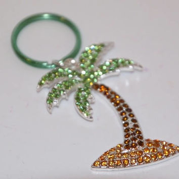 Palm tree blinded Keychain