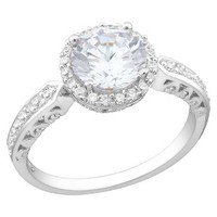 4.18 CT. T.W. Cubic Zirconia Engagement Ring in Sterling Silver