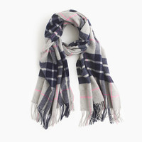 J.Crew Womens Large Plaid Scarf