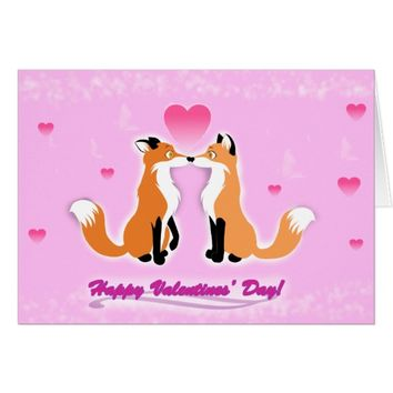 Valentine's Day Foxes Card