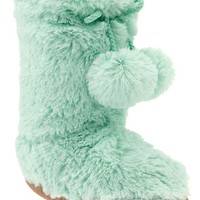 Girls Furry Boot Slippers
