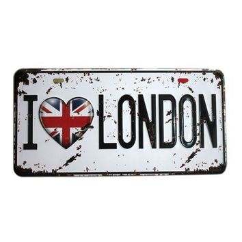 America Vintage Car Plate Wall Hanging Decoration   22