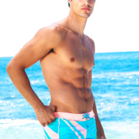 Sauvage Miami Art Deco Swimmer | Designer Men's Swimwear - Sauvage