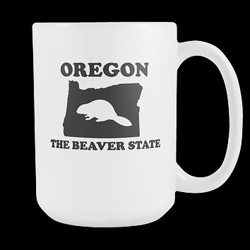 Oregon The Beaver State Coffee Mug, 15 Ounce