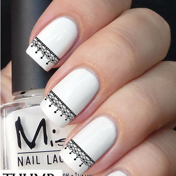 Lace nail decal set 50pc