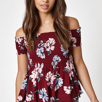Kendall and Kylie Smocked Babydoll Top at PacSun.com