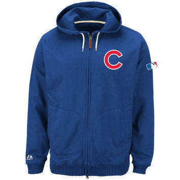 Majestic Chicago Cubs 2014 Authentic Collection Clubhouse Full-Zip Hooded Sweatshirt - Royal Blue