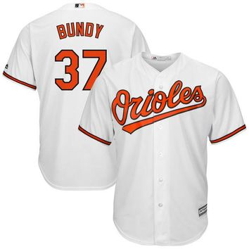 Men's Baltimore Orioles Dylan Bundy Majestic Home White Cool Base Replica Player Jersey