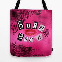 Cute Pink Burn Book mean girl Tote Bag by Three Second