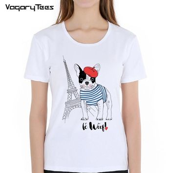 New Arrivals Fashion French Bulldog/Owl Printed T-Shirt Women Men Dogs Animal T Shirt Summer High Quality Hipster Tee Tops