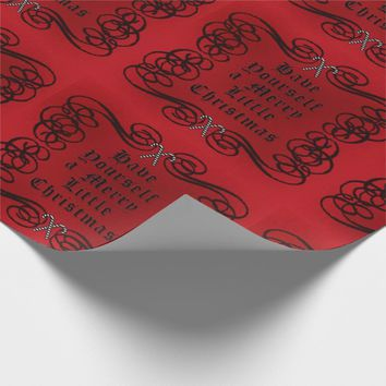 Goth Style Merry Little Christmas Wrapping Paper