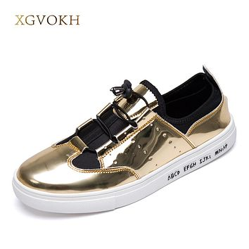 Men Casual Shoes Fashion glitter breathable Man Flats Shoes  zapatillas hombre