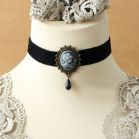 Gothic jewelry vintage lace necklaces & pendants women accessories choker necklace false collar statement necklaces (JL-109)