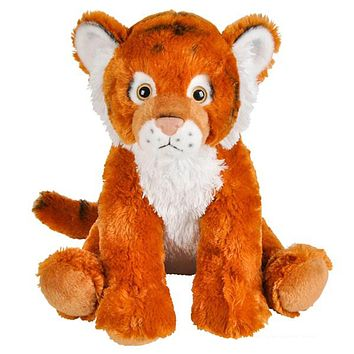 "Huge 14"" Stuffed Tiger Zoo Animal Plush Domain Collection"