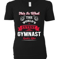 This Is What The Cutest Gymnast Looks Like - Ladies T-shirt