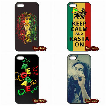 For iPhone SE 4 4S 5S 5 5C 6 6S Plus Samsung Galaxy S4 S5 MINI S6 S7 Edge Note 4 5 bob marley lion rasta lion reggae Case Cover