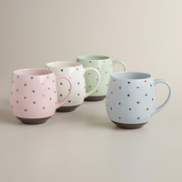 Dotted Mugs, Set of 4 - World Market