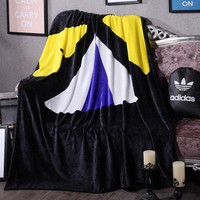 Adidas Fendi Print Comfortable Soft Fleece Blanket Warm Flannel Travel Blanket Sofa Cover