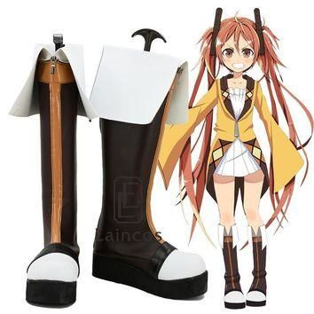 Anime Black Bullet Aihara Enju Cosplay Party Shoes Fancy Boots Custom Made