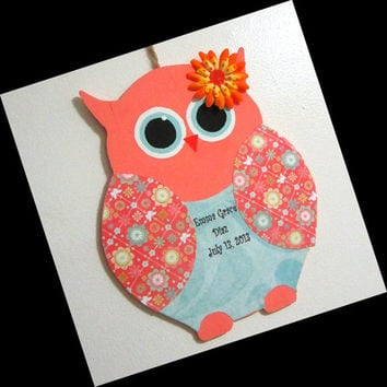 Nursery Owl Decor, Personalized Wooden Owl, Baby Room Decor, Owl, Custom  Name