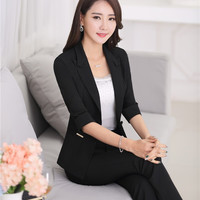 Formal OL Styles Professional Business Women Suits Jackets And Pants
