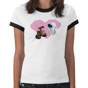 Wall*e's Wall*e and Eve Pixel Heart Disney T-shirts from Zazzle.com
