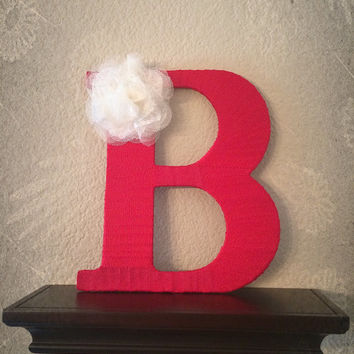 Handcrafted Decorated Monogram Letter B by Tightly Wound Designs