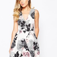 Keepsake Gone Girl Dress In Floral Print