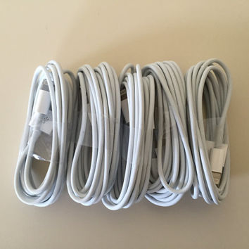 5x 6ft 2M iPhone 6 6plus 5s 5c 5 8 Pin Lightning Cable USB Data Sync Charger Cables Cords ios 8 supported
