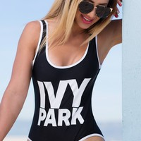 Ivy Park Black One Piece  Swimsuit