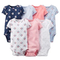 Carter's 7-pk. Floral Bodysuits - Baby Girl, Size: