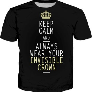 keep calm invisible crown