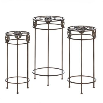Cast Iron Lone Star Horseshoe Plant Stand -Set of 3