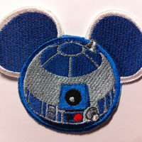 Star Wars R2D2 Embroidered Mouse Ear Patch Disney