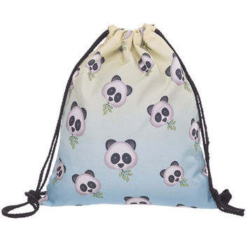 Panda Emoji Drawstring Bag