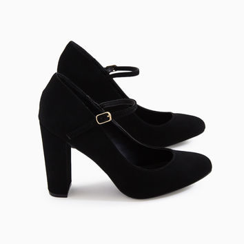 Faux Suede Buckle Strap Heels | Wet Seal