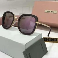 One-nice™ Miu Miu Women Casual Popular Summer Sun Shades Eyeglasses Glasses Sunglasses Purple I-A-SDYJ
