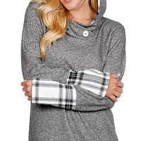 Carefree Hoodie - Plaid Charcoal