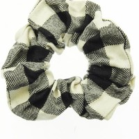 Checkerboard Flannel Stretch Scrunchie
