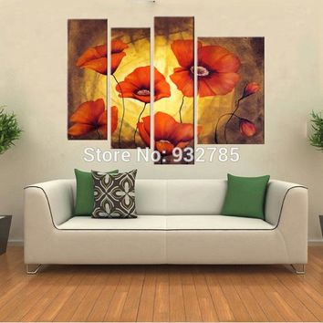 Free shipping! High quality handmade floral decorative painting, modern abstract wall art decor of Civil Affairs