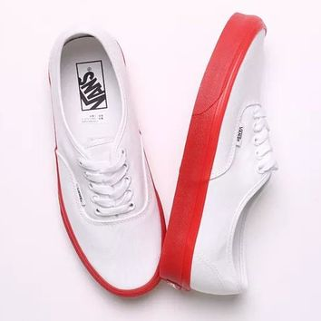 VANS Old School Women Men Flat Canvas Leisure Shoes B-CSXY White b04884cacc0e