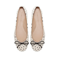 POLKA DOT BALLERINA SHOES - Shoes - Woman - ZARA United States